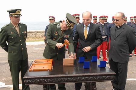 Presidente da CMB e autoridades militares