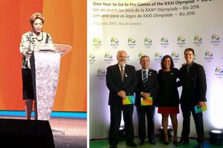 Presidente Dilma Rousseff e representantes da Casa da Moeda participam da cerimônia