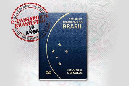 Capa do passaporte com validade de 10 anos.