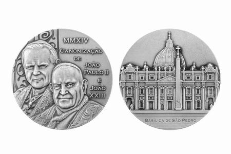 Medalha de canonização dos Papas