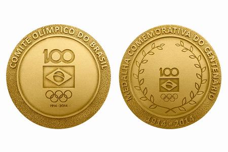 Medalha comemorativa dos 100 anos do COB