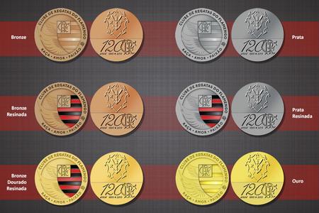 Medalhas comemorativas dos 120 anos do Flamengo