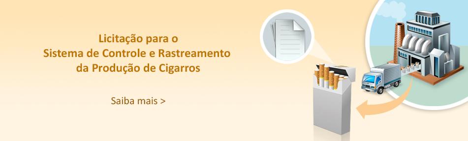 Banner para licitação para o sistema de controle e rastreamento de produção de cigarros